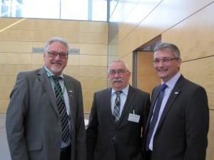 v.l. Lothar Stockert, Gerhard Bühler stellv. Vorsitzender des Landesverbandes, Thomas Dubowy